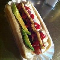 Photo taken at Jeff's Gourmet Kosher Sausage Factory by Daniel D. on 7/23/2013