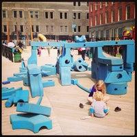 Photo taken at Imagination Playground at Burling Slip by aмanda~ on 4/10/2013