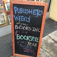 Photo taken at Books Inc. by Adam S. on 3/20/2016