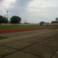 Photo taken at Stadion Pahoman by Dimas N. on 12/17/2012