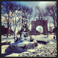Photo taken at Grand Army Plaza by Megan A. on 2/9/2013