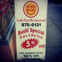 Photo taken at Sushi Bang by Laura V. on 8/31/2014