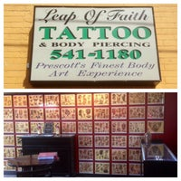Photo taken at Leap of Faith Tattoo & Body Piercing by loftattoo on 2/28/2014