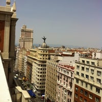 Photo taken at Hotel Emperador Madrid by Virginia F. on 8/2/2013