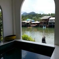 Photo taken at Keereeta Lagoon, Koh Chang by Benjee N. on 4/29/2013