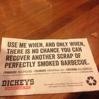 Photo taken at Dickey's Barbecue Pit by Kristen F. on 8/9/2013