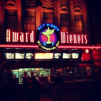 Photo taken at Award Wieners by Kelsey B. on 3/30/2013