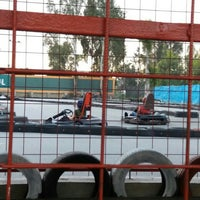 Photo taken at Aqualand karting by Emine A. on 5/1/2016