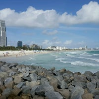 Photo taken at South Pointe Pier by Sangeetha R. on 12/26/2016