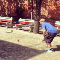 Photo taken at Little Italy Bocce Court by Laetitia B. on 7/6/2014