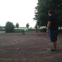 Photo taken at Petanque Lotseille by Benoit M. on 7/17/2013