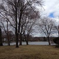 Photo taken at Washington Township Lake by Will T. on 4/5/2014