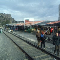 Photo taken at Ferrocarril Chihuahua Pacífico (Chepe) Estación Divisadero by Andy G. on 12/20/2012