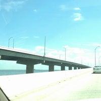 Photo taken at Howard Frankland Bridge by Angela on 4/18/2013