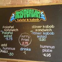 Photo taken at Amsterdam Falafel & Kabob by Gautam C. on 5/26/2013