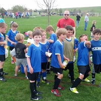 Photo taken at Kennedy Soccer Complex by Bryan P. on 5/18/2013
