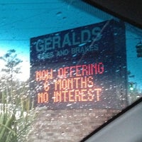 Photo taken at Geralds Tires and Brakes by Jarrod C. F. on 12/13/2012