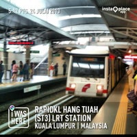 Photo taken at RapidKL Hang Tuah (ST3) LRT Station by Dan M. on 7/24/2013