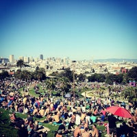 Photo taken at Mission Dolores Park by Sara B. on 4/20/2013
