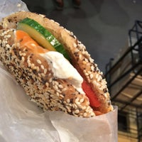 Photo taken at St. Urbain Bagel by Heather B. on 7/25/2015
