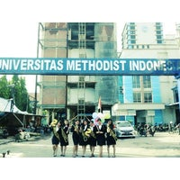 Photo taken at Universitas Methodist Indonesia by Lita Eriska S. on 7/7/2015