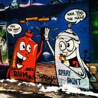 Photo taken at Asylum Sports Bar Grill & Nightclub by Acts of Random Art on 3/28/2013