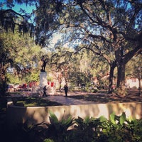 Photo taken at Forrest Gump's Bench (former location) by Chad M. on 11/8/2013