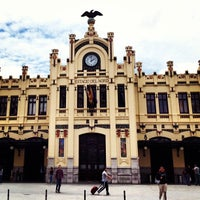 Photo taken at Valencia North Railway Station (YJV) by Alberto A. on 5/21/2013