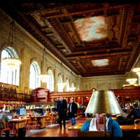 Photo taken at Rose Main Reading Room - New York Public Library by Ryan A. on 3/1/2013
