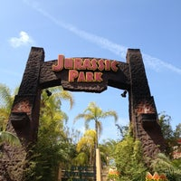 Photo taken at Jurassic Park The Ride by Adam O. on 4/5/2013