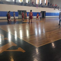 Photo taken at Xavier School Wooden Court by Sherry G. on 1/16/2016