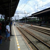 Photo taken at Stasiun Jatinegara by Mutiara M. on 12/23/2012