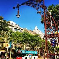 Photo taken at Passeig de Gràcia by Tio Lule on 7/15/2013