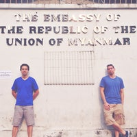 Photo taken at Embassy of the Republic of the Union of Myanmar by Flurry F. on 2/9/2013