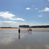 Photo taken at Plage de Deauville by Igor T. on 7/28/2013