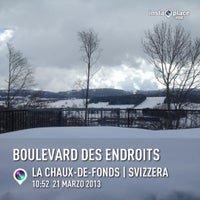Photo taken at Grand Hotel Les Endroits La Chaux-de-Fonds by Ilaria on 3/21/2013