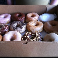 Photo taken at Dun-Well Doughnuts by Cherry X. on 4/10/2013