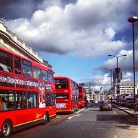 Photo taken at London Bridge Bus Station by Livia B. on 9/29/2012