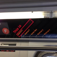Photo taken at MTA Subway - F Train by Maksym S. on 11/2/2012