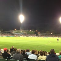 Photo taken at StarTrack Oval by Jonathan H. on 4/13/2013