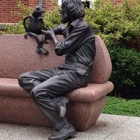 Photo taken at Jim Henson Statue by Kathleen R. on 10/19/2013
