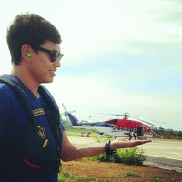 Photo taken at Chevron Hangar by @pu_daralome i. on 5/15/2014