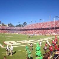 Photo taken at Stanford Stadium by Yonas H. on 10/19/2013