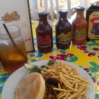 Photo taken at Lucille's Smokehouse Bar-B-Que by Sam on 10/24/2012