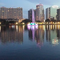 Photo taken at Lake Eola Park by Amy F. on 9/8/2013