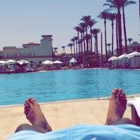 Photo taken at Cataract Pyramids Resort Giza by Salman A. on 5/26/2016