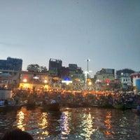 Photo taken at Dasaswamedh Ghat by Sathya B. on 3/3/2016