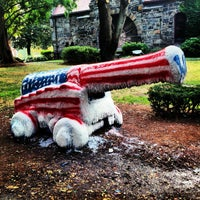 Photo taken at Tufts Cannon by John B. on 9/12/2013