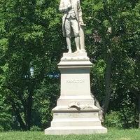 Photo taken at Alexander Hamilton Statue by Rick G. on 6/10/2016