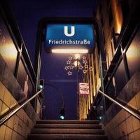 Photo taken at Bahnhof Berlin Friedrichstraße by Matthias U. on 12/21/2012